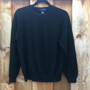 Charter Club Black 100% Cashmere Crew Neck Sweater